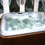 Jacuzzi and ladder on deck of Classic Boat