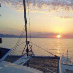 Solarium of Outremer Catamaran and Sunset