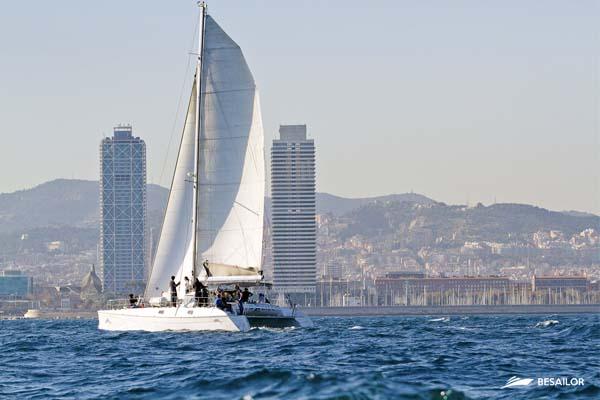 Image of a Catamaran in full navigation