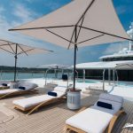 Solarium front bridge of command for relax in super yacht nirvana