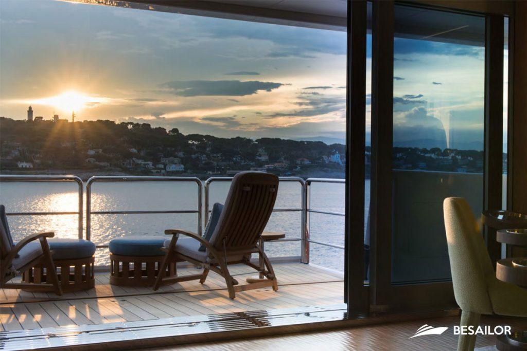 Sunrise on terrace Superyacht luxury nirvana4