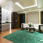 Salón interior Super yate Nirvana