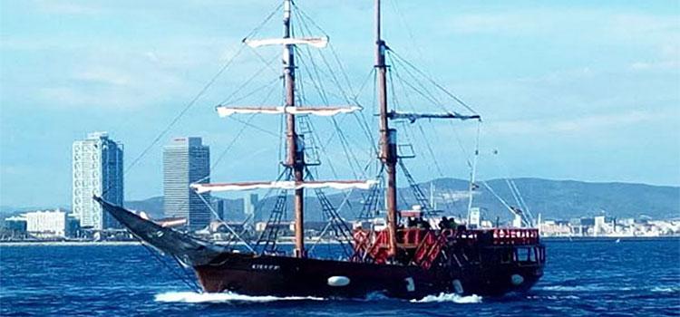 fiesta de cumpleaños en un barco pirata